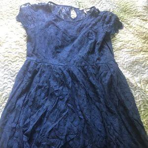 LC Lauren Conrad Dresses - Lauren Conrad navy Lacey summer dress